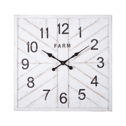 White Wood Clock 30.5