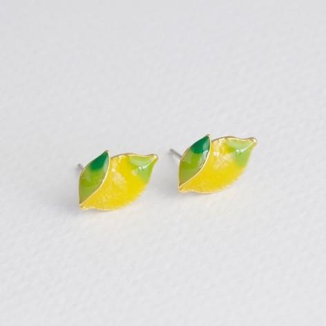 18 Carat Gold Plated Lemon Earrings Jewellery Lisa Angel