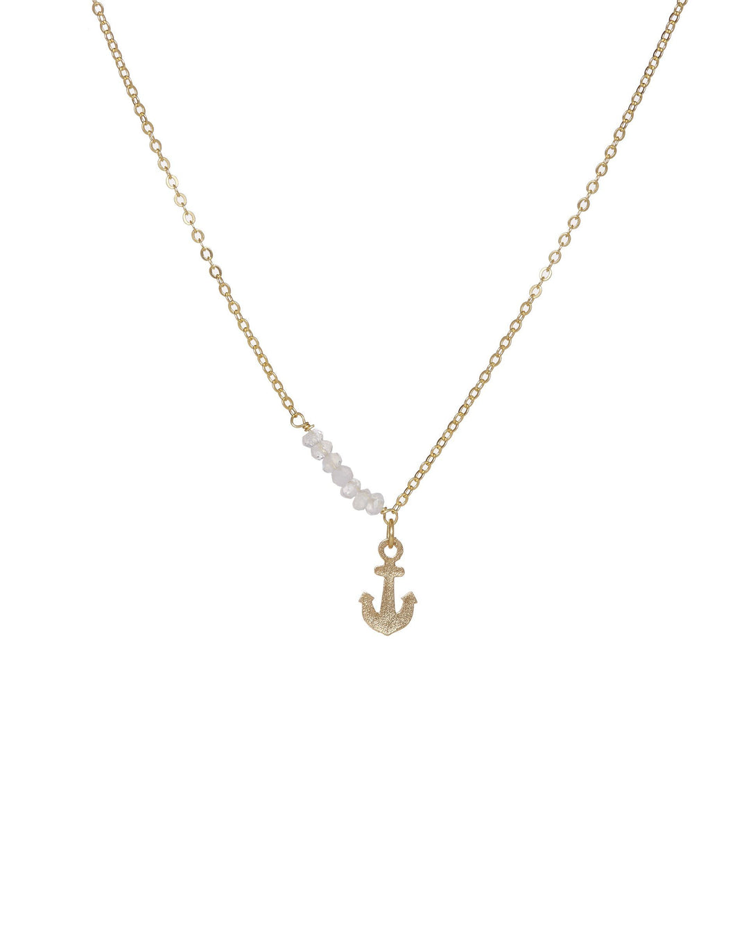 22 Carat Gold Plated Anchor Necklace Jewellery Ashiana London