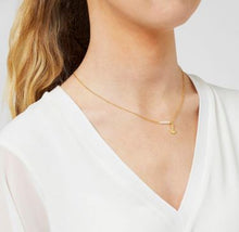 Load image into Gallery viewer, 22 Carat Gold Plated Anchor Necklace Jewellery Ashiana London