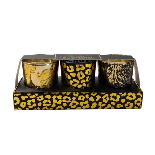 Animal Print Trio of Candles Home Fragrance Candlelight