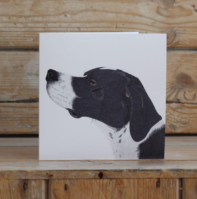 Archie the English Pointer Card Stationery Bird