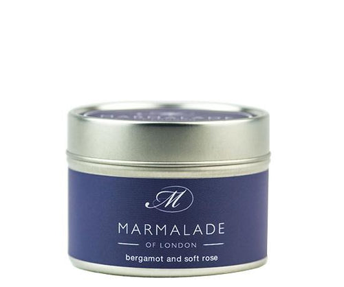 Bergamot and Soft Rose Tin Candle Home Fragrance Marmalade