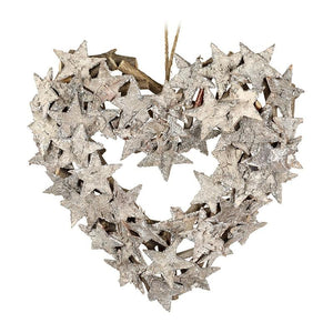 Birch Star Heart-Shaped Wreath Christmas Heaven Sends