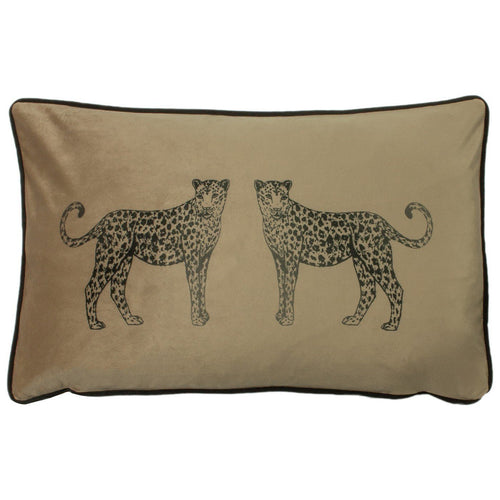 Biscuit Leopard Cushion Soft Furnishing Riva Home