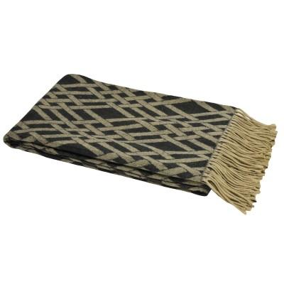Black and Taupe Madison Throw Soft Furnishing Riva Home