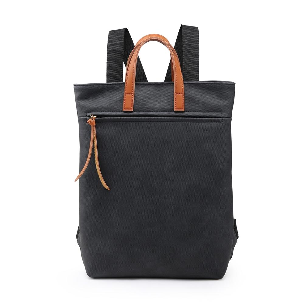 Black Canvas Style Rucksack Accessories House of Milan