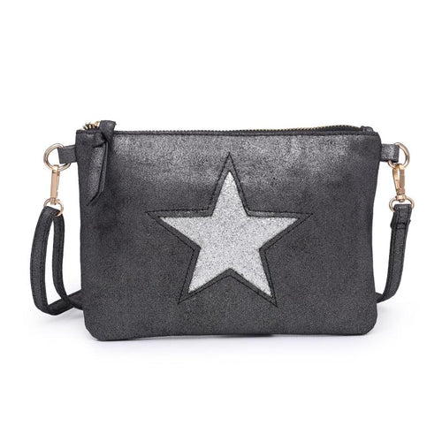 Black Star Clutch Bag Accessories House of Milan