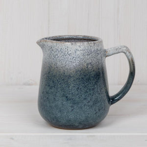 Blue and White Stoneware Jug Homeware Teal