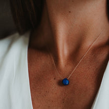 Load image into Gallery viewer, Blue Lapiz Lasuli Signature Cord necklace Jewellery Wanderlust Life