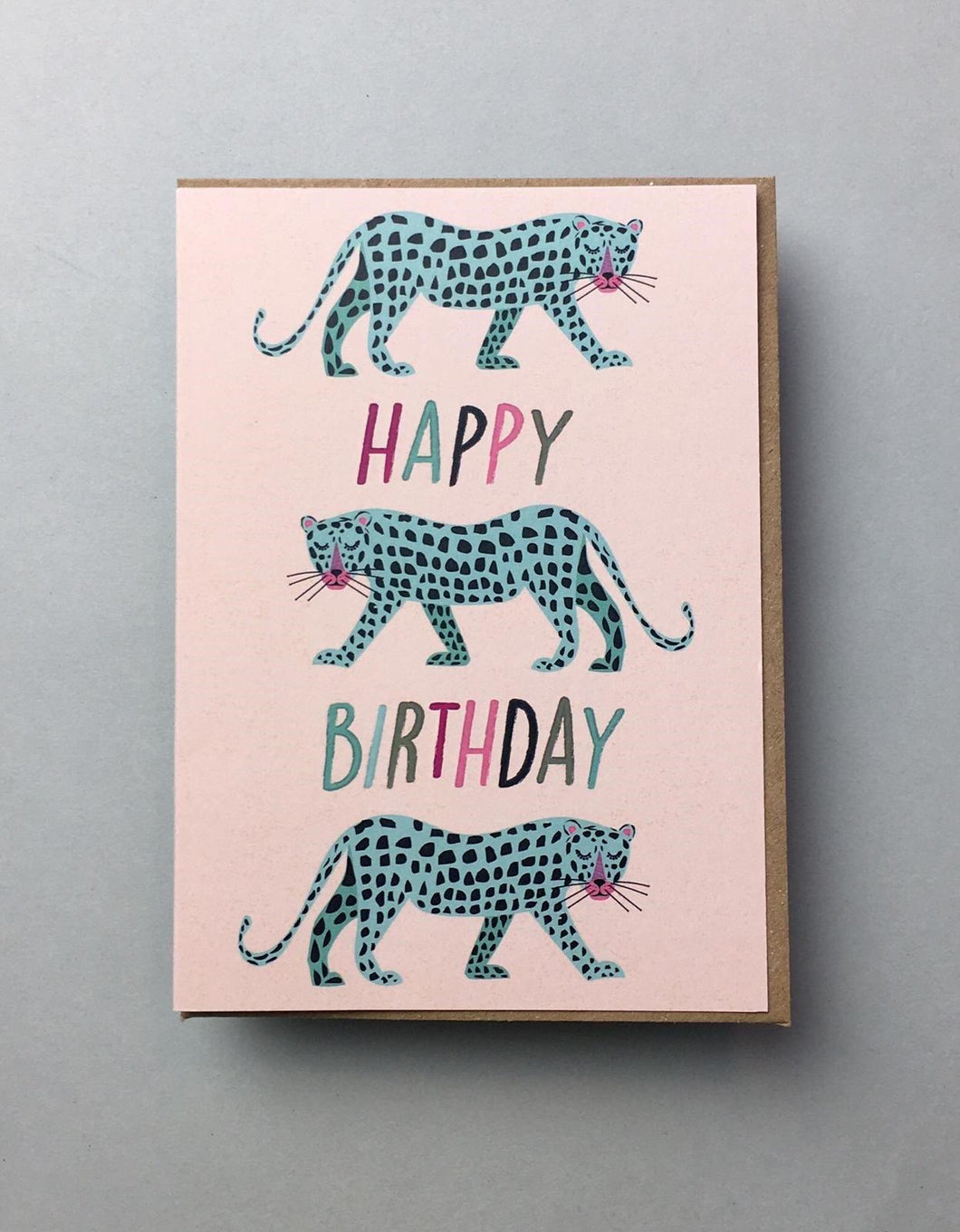 Blue Leopards Birthday Card Stationery Earlybird