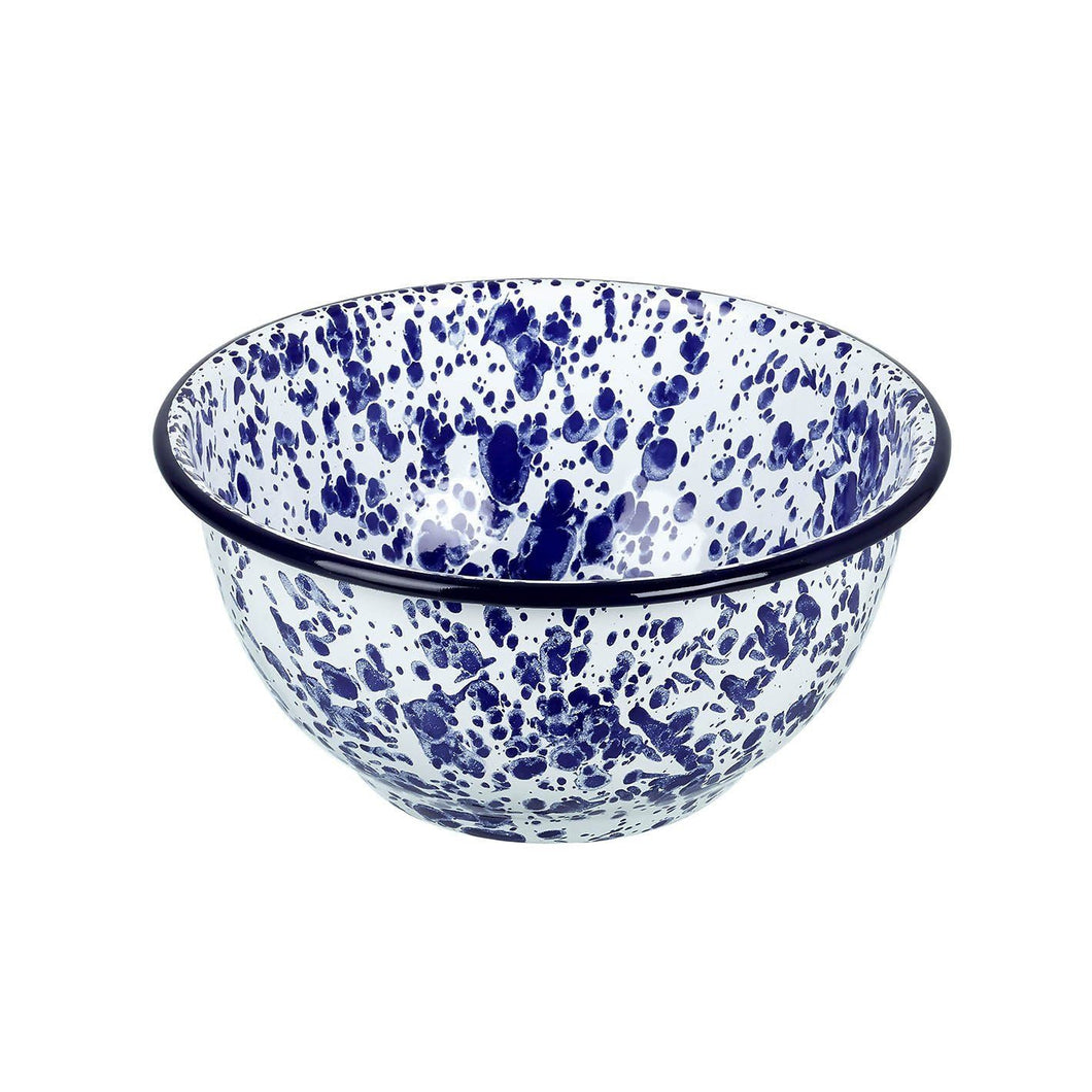 Blue Splash Enamel Bowl Homeware Parlane