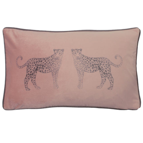Blush Leopard Cushion Soft Furnishing Riva Home