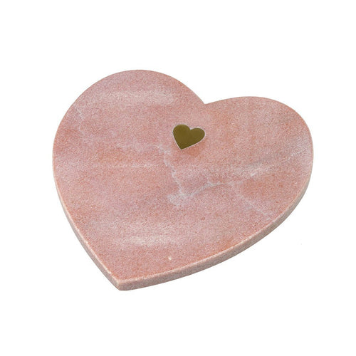 Blush Marble Heart Board Homeware Parlane