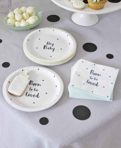Born to be Loved Plates Party Talking Tables