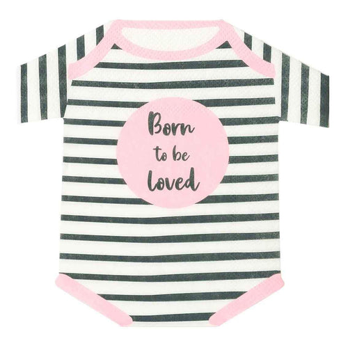 Born to be Loved Romper Napkins Party Talking Tables