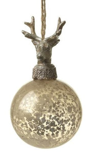 Bronze Deer Bauble Christmas Heaven Sends
