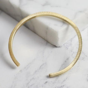 Brushed Gold Bar Bangle Jewellery Lisa Angel