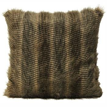 Caramel Faux Fur Cushion Soft Furnishing Riva Home