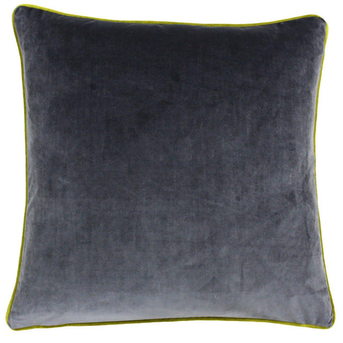 Charcoal and Moss Velvet Cushion Soft Furnishing Riva Home