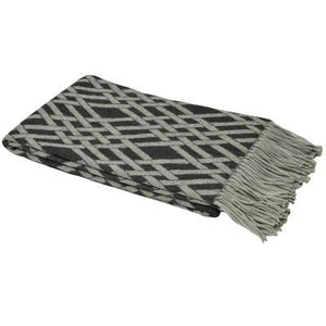 Charcoal Madison Throw Soft Furnishing Riva Home