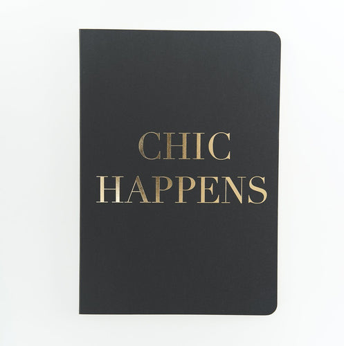 Chic Happens Notebook Stationery Go Stationery