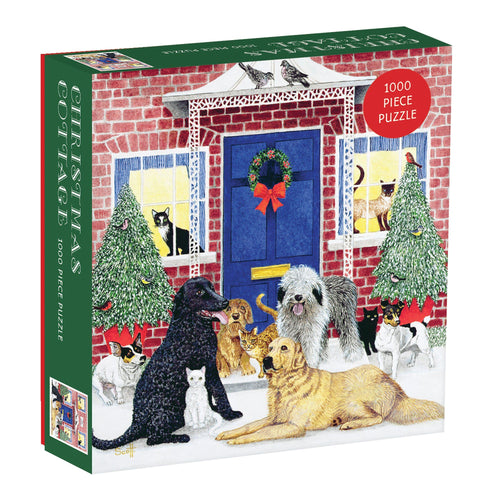 Christmas Cottage 1000 Piece Puzzle Gift Abrahms and Chronicle