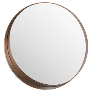 Circular Copper Finish Mirror Homeware Hill Interiors