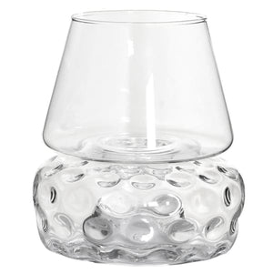 Clear Dimple Effect Hurricane Jar Homeware Coach House