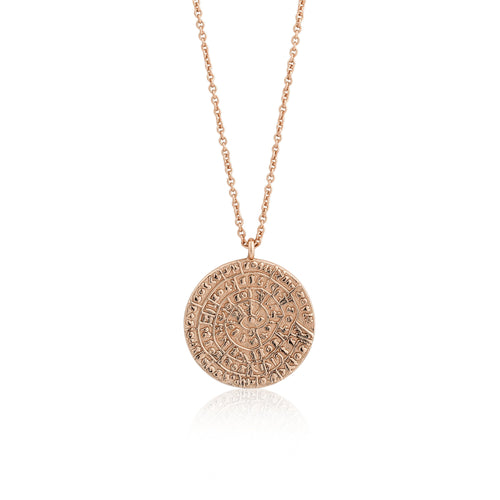 Coins Rose Gold Minoan Necklace Jewellery Ania Haie