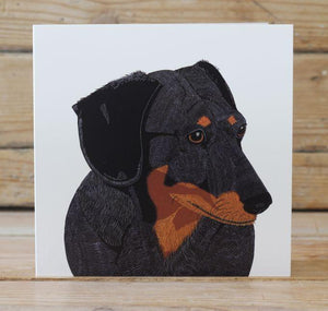 Colin the Dachshund Card Stationery Bird