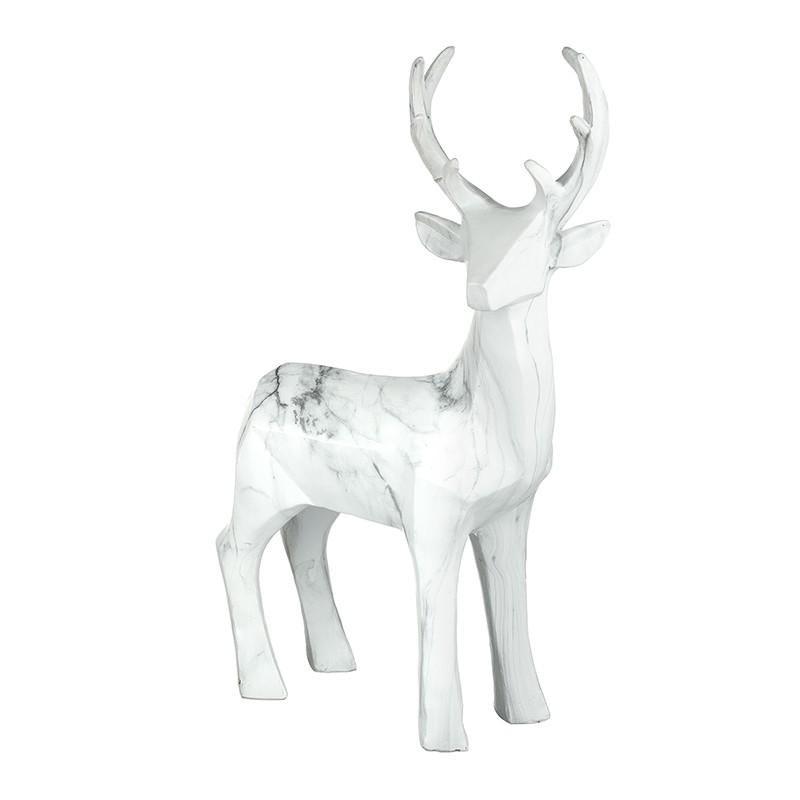 Collection Only - Marble Resin Deer Centrepiece Christmas Heaven Sends