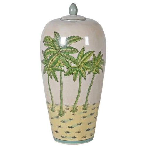 Colonial Palm Tree Ginger Jar Homeware Coach House