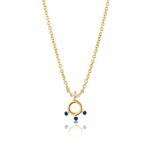 Connect the Dots Lapis Enamel Pendant Necklace Jewellery Ania Haie