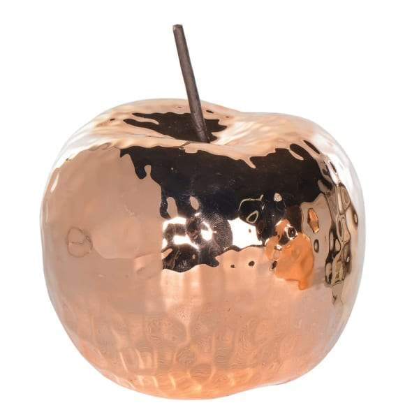 Copper Ceramic Apple Decoration Homeware Coach House