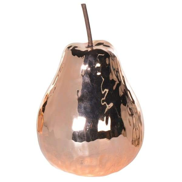 Copper Ceramic Pear Decoration Homeware Coach House