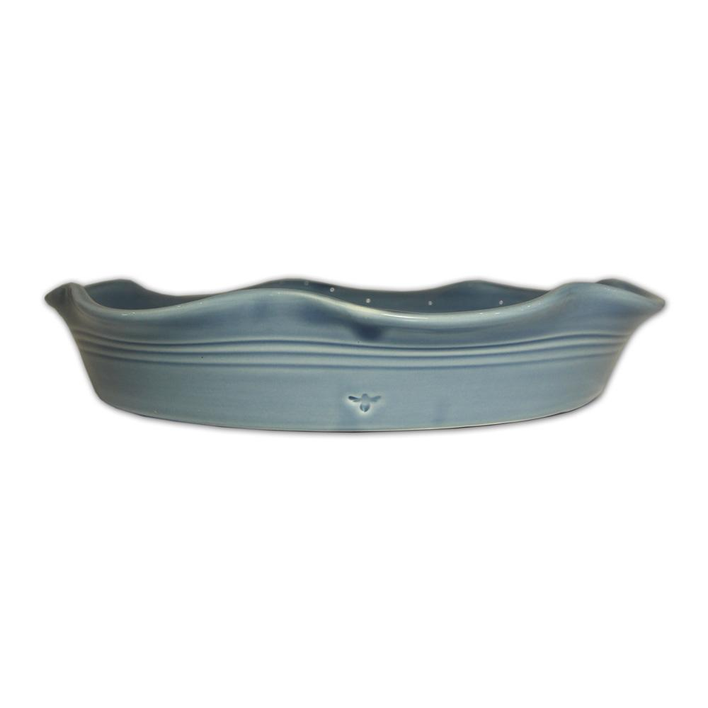 Cornflower Blue Wave Platter Homeware Parlane