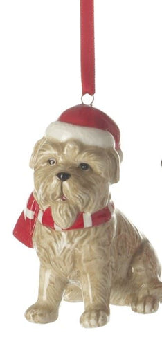 Cute Dog Ceramic Tree Decoration Christmas Heaven Sends
