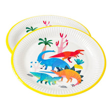 Load image into Gallery viewer, Dinosaur Party Plate Party Talking Tables