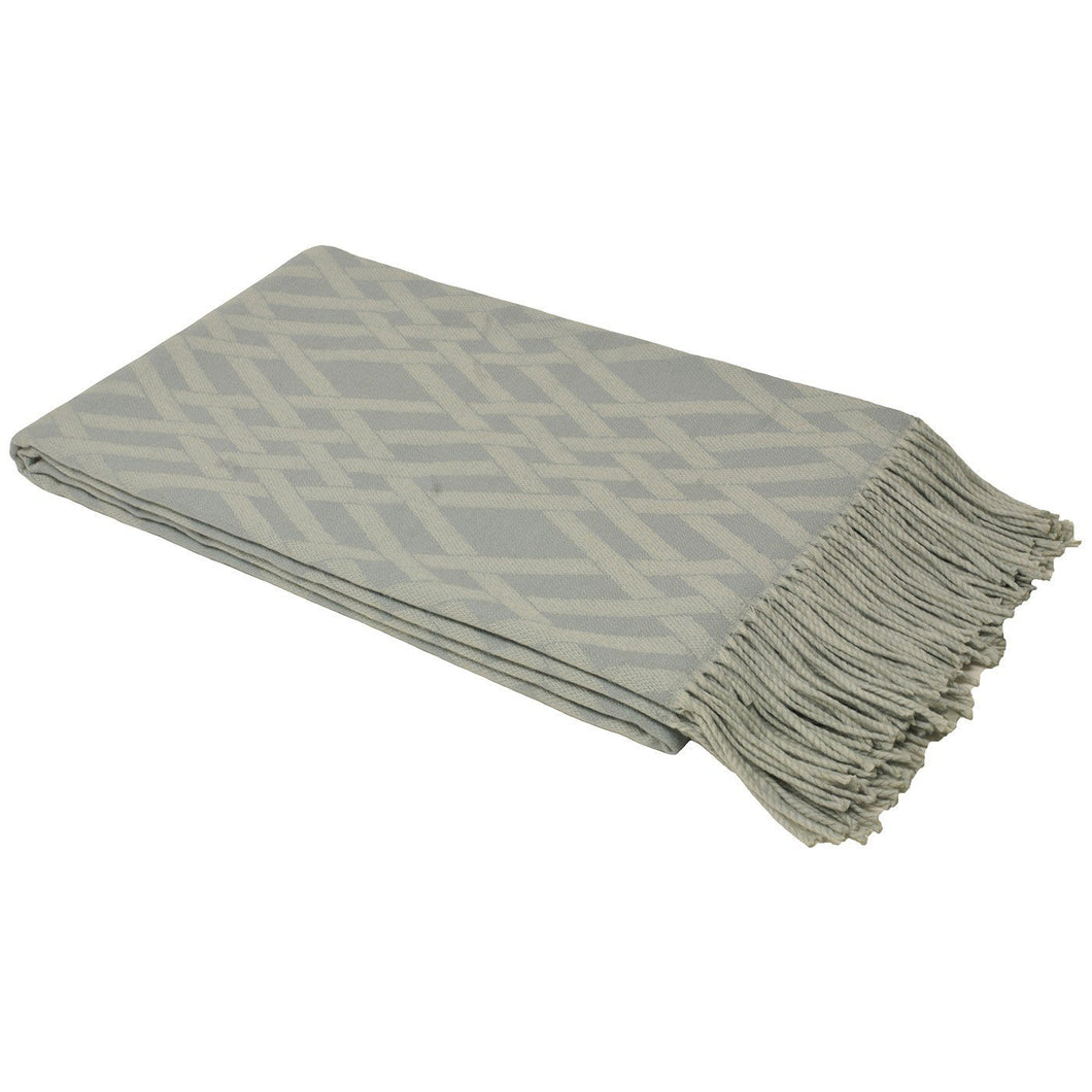 Dove Grey Madison Throw Soft Furnishing Riva Home