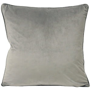 Dove Grey Velvet Cushion Soft Furnishing Riva Home