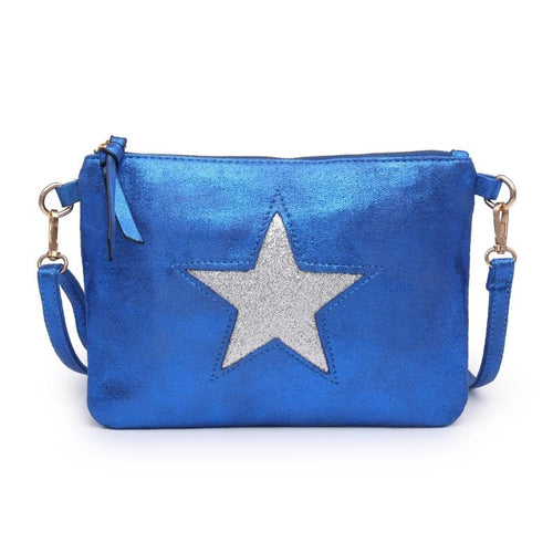 Electric Blue Star Clutch Bag Accessories House of Milan