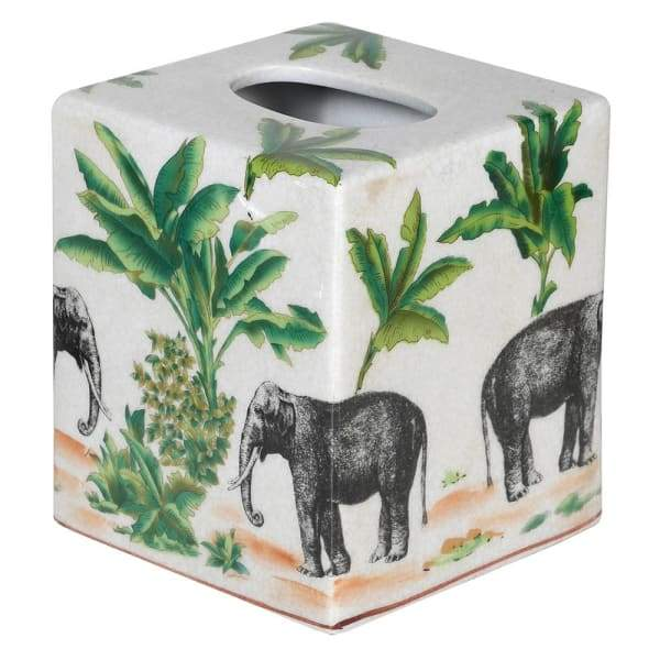 Elephant Ceramic Tissue Box Cover Homeware Coach House