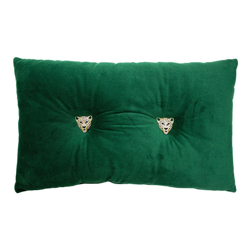 Emerald Cushion with Panther Detail Soft Furnishing Riva Home
