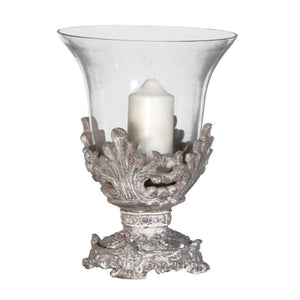 Fancy Candle Holder with Glass Homeware Coach House
