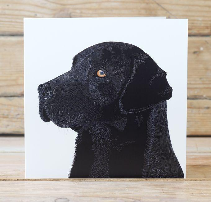 Franklin the Black Labrador Card Stationery Bird
