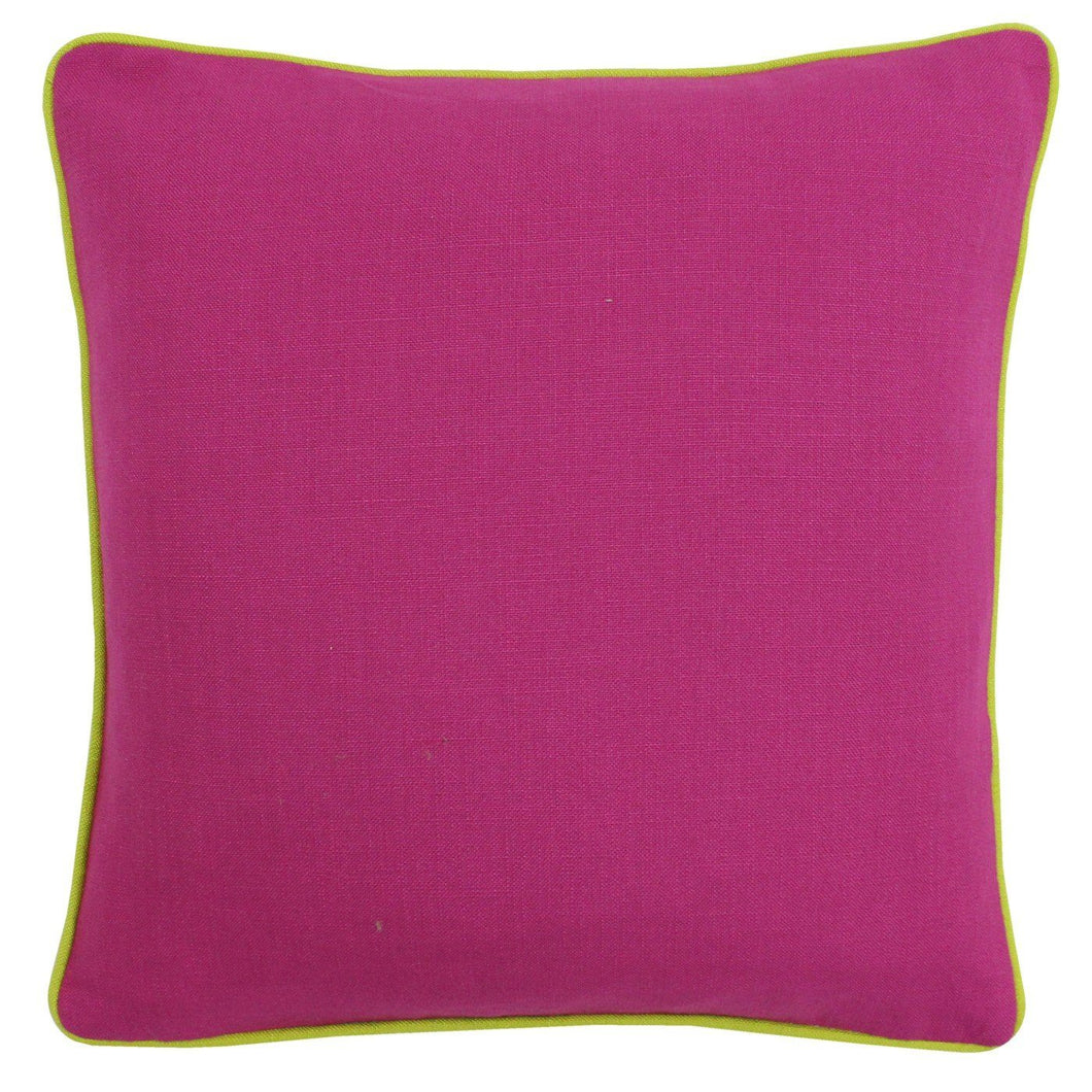 Fuchsia and Lime Cushion Soft Furnishing Riva Home