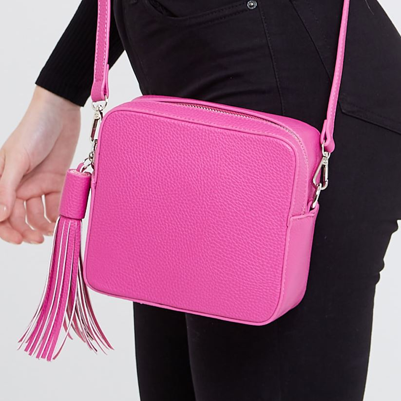 Fuchsia Crossbody Box Bag Accessories Kris Ana