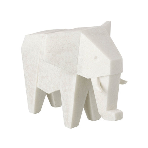 Geometric White Elephant Ornament Homeware Parlane