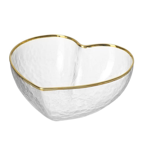 Glass Heart Mini Bowl with Gold Rim Homeware Parlane